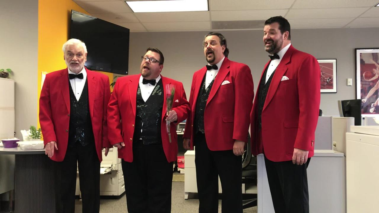 The Hunterdon Harmonizers sang a song to wish Central Jersey residents a happy Valentine's Day.