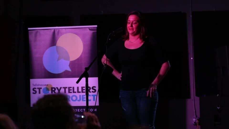 Chryssy Moor tells her story for 'Love and Dating in the Digital Age' on Tuesday.