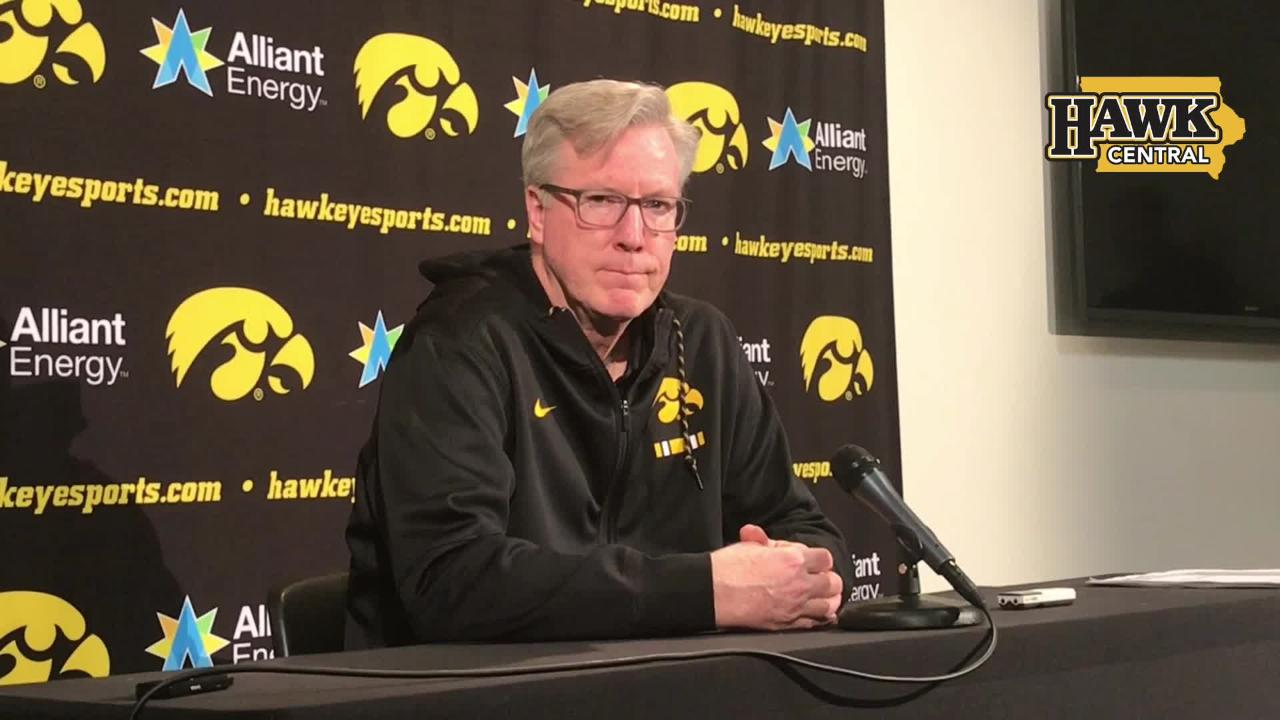Iowa coach Fran McCaffery answers two questions about how, top to bottom, the Big Ten has been stronger this year.