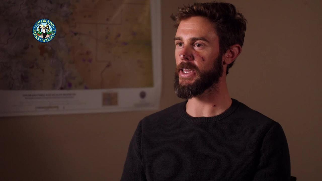 Travis Kauffman was able to fight off a mountain lion after the animal attacked him on a trail near Fort Collins.
