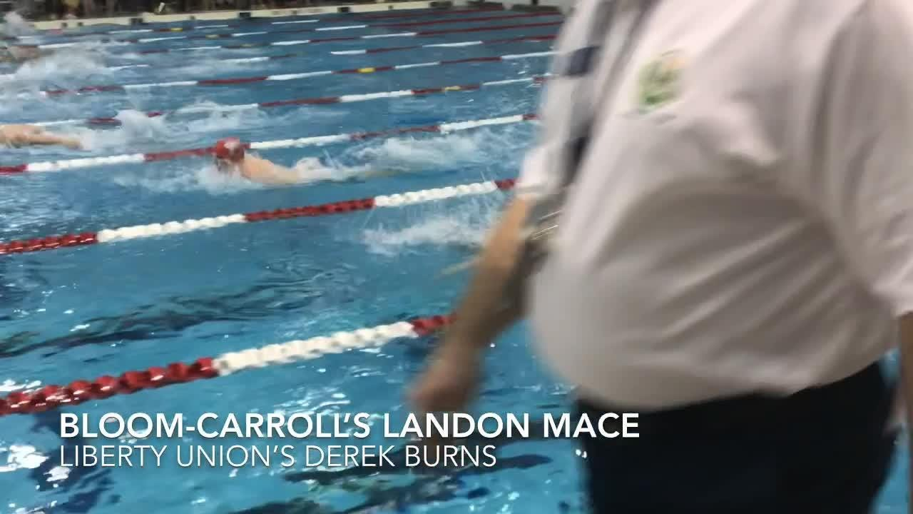 Liberty Union's Lonnie Lawhorn was a double winner Thursday in the 100 breaststroke and 200 individual medley during the Division II district meet.