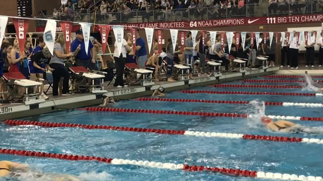 Elgin's Madison Linstedt won the Division II district title in the 200 freestyle Thursday at Ohio State and placed third in the 100 butterfly.