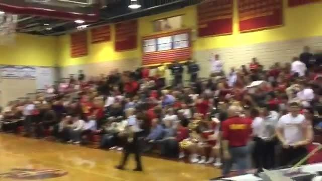 Zach Freemantle nailed a trey from the wing to put Bergen Catholic basketball up 46-33 at the end of the third quarter in its win over Don Bosco.