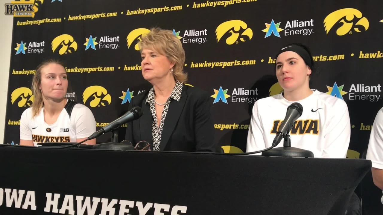 Lisa Bluder breaks down Iowa's big win over Illinois.