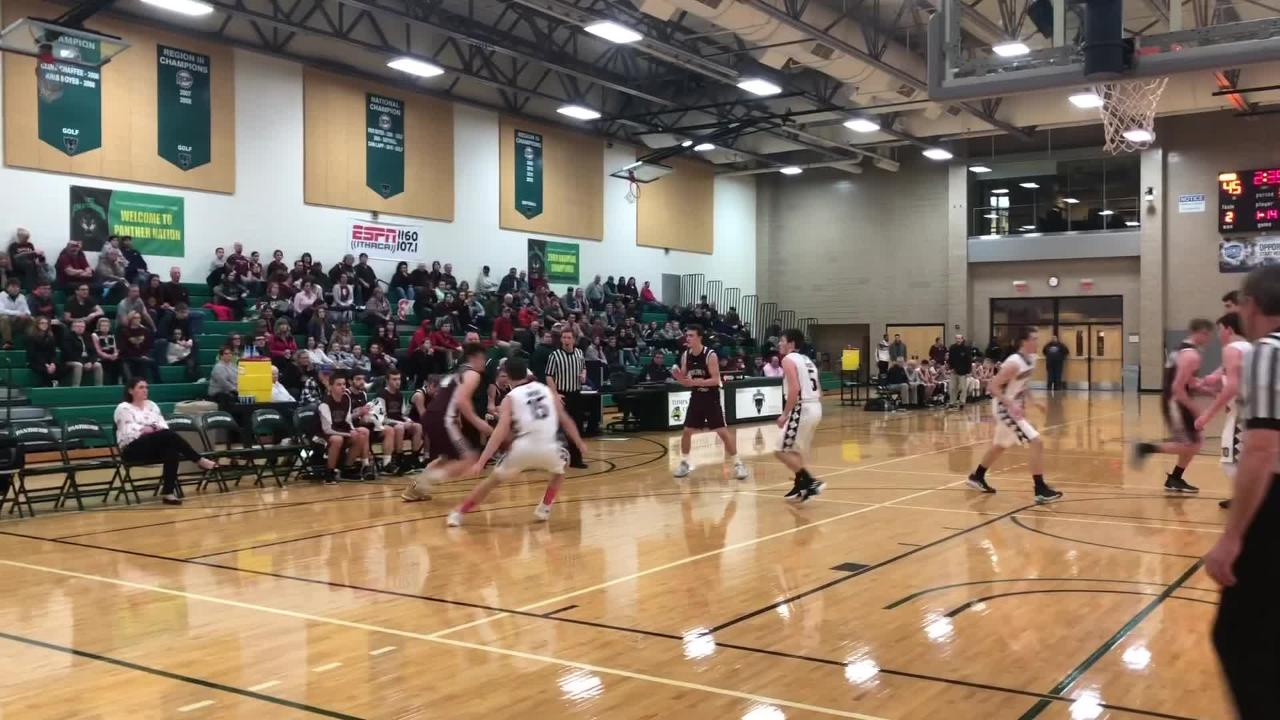 Watkins Glen overcame an early 8-0 hole to beat Whitney Point, 62-56, in the IAC Large School boys basketball final Feb. 14, 2019 at TC3.