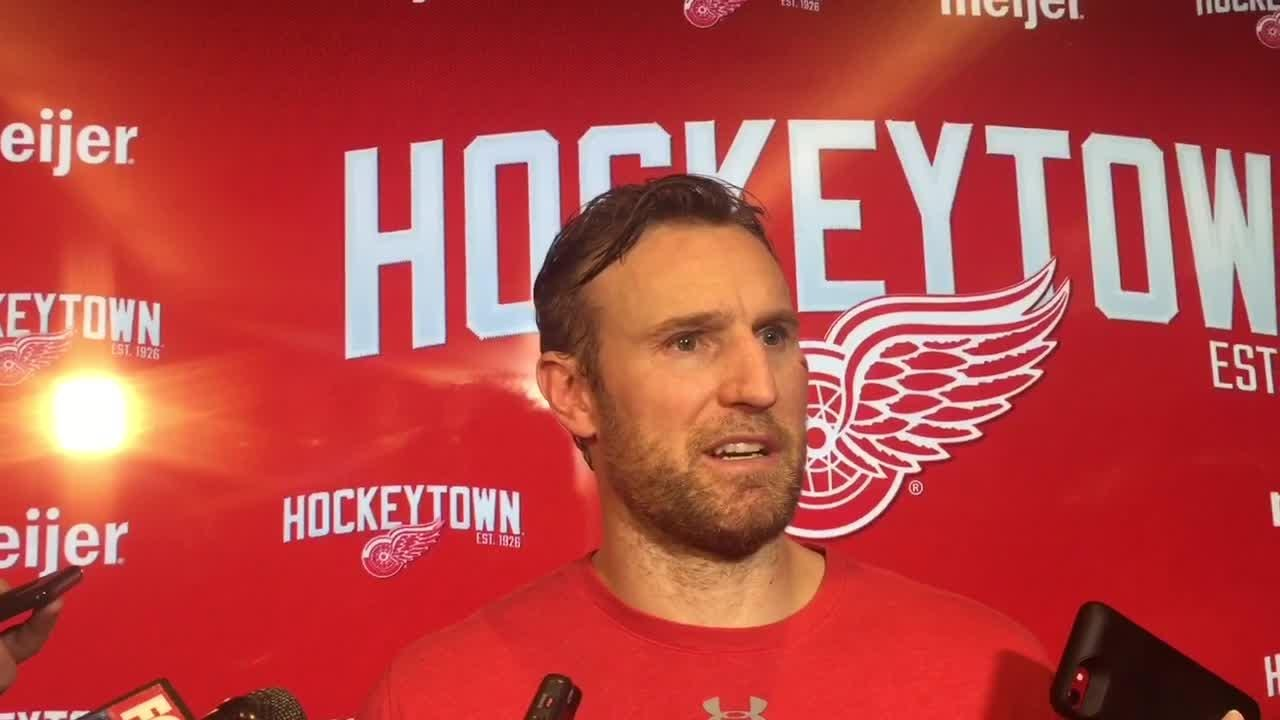 Seeing Niklas Kronwall level an opponent lifted the Detroit Red Wings during their 3-2 victory over Ottawa. Filmed Feb. 14, 2019 in Detroit.