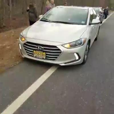 Someone has been throwing things at cars on County Route 539. Police say more than a dozen cars have been damaged. Video by Anjelica Furno.