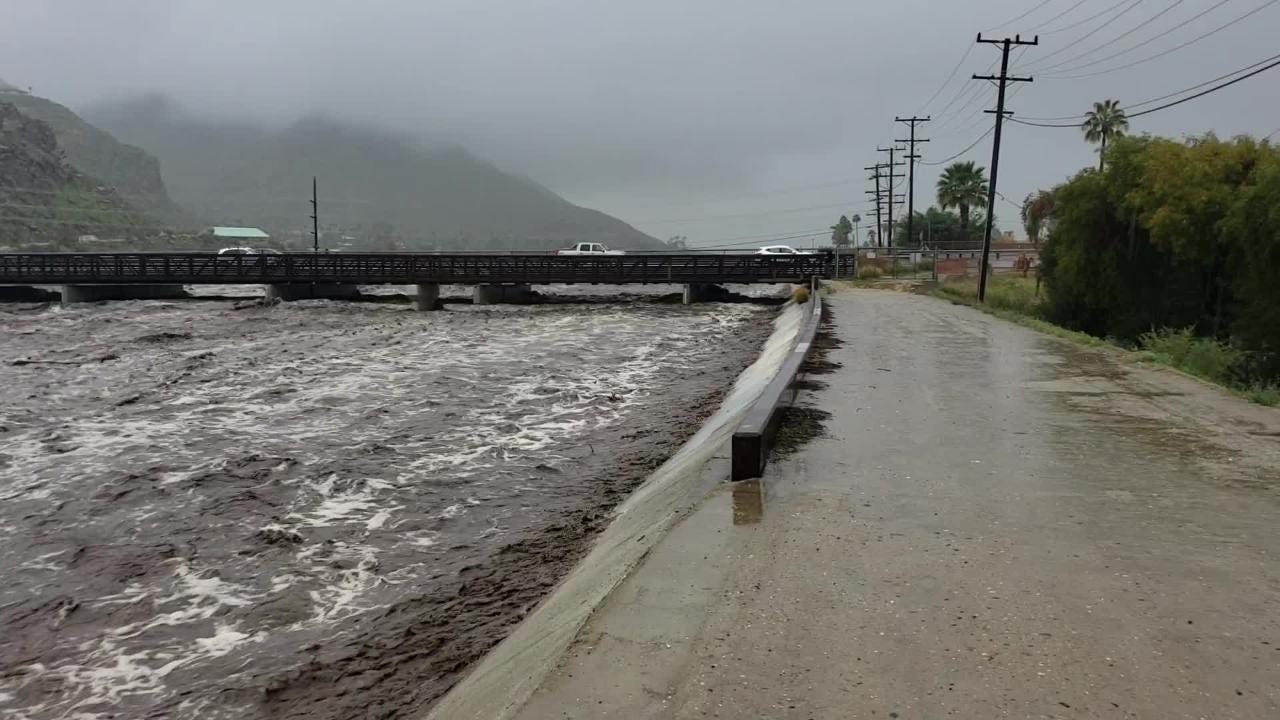 The wash near Highway 111 bridge in the Palm Springs' Los Compadres neighborhood.