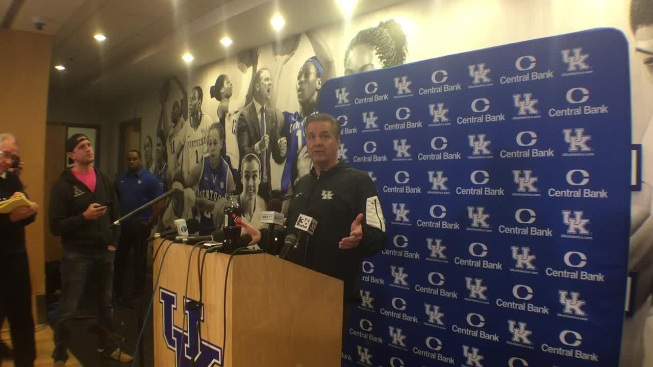 Kentucky coach John Calipari looks ahead to matchup with No. 1 Tennessee.
