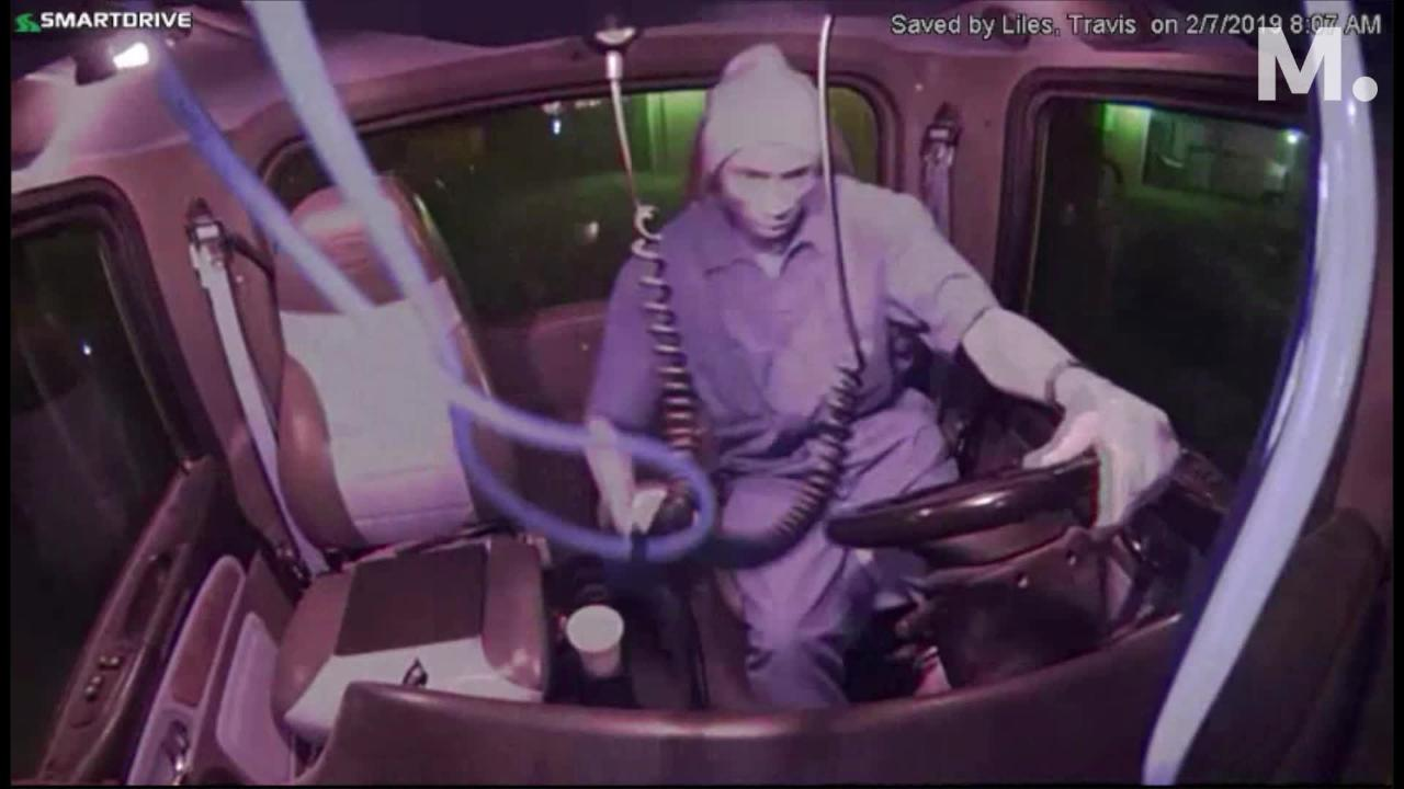 Police are searching for a man who made off with a vehicle. The suspect was caught on video inside the vehicle.