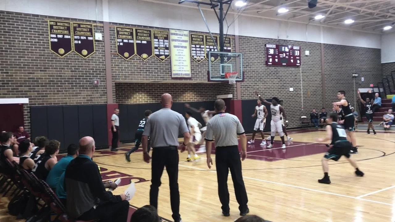 Tyrone Baker's putback with 5.2 seconds to go sent Riverdale to a 51-50 win over Gulf Coast for the 8A-12 championship.