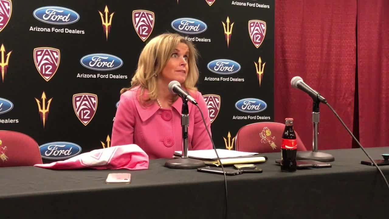 ASU WBB coach Charli Turner Thorne on win over Colorado