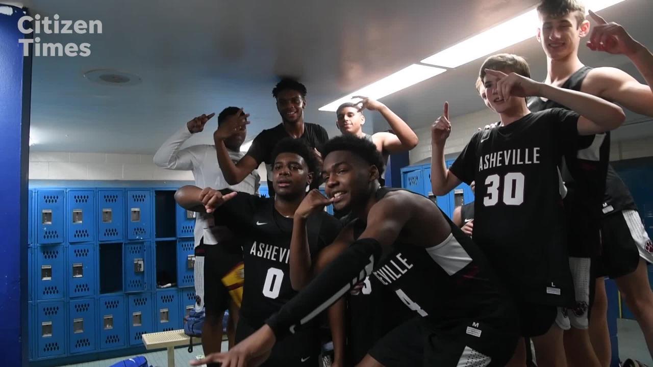 Asheville celebrates win over W Henderson