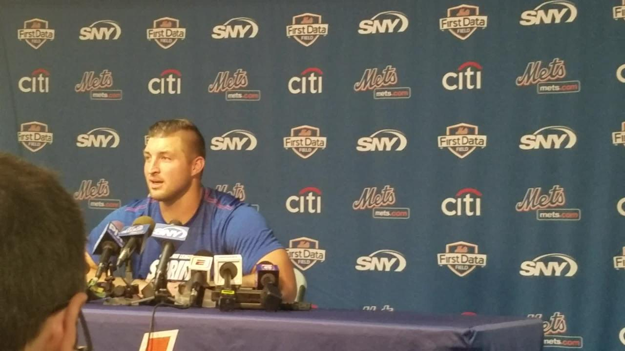 77f551de660a19 Tim Tebow 'all in' with baseball, NY Mets after turning down AAF