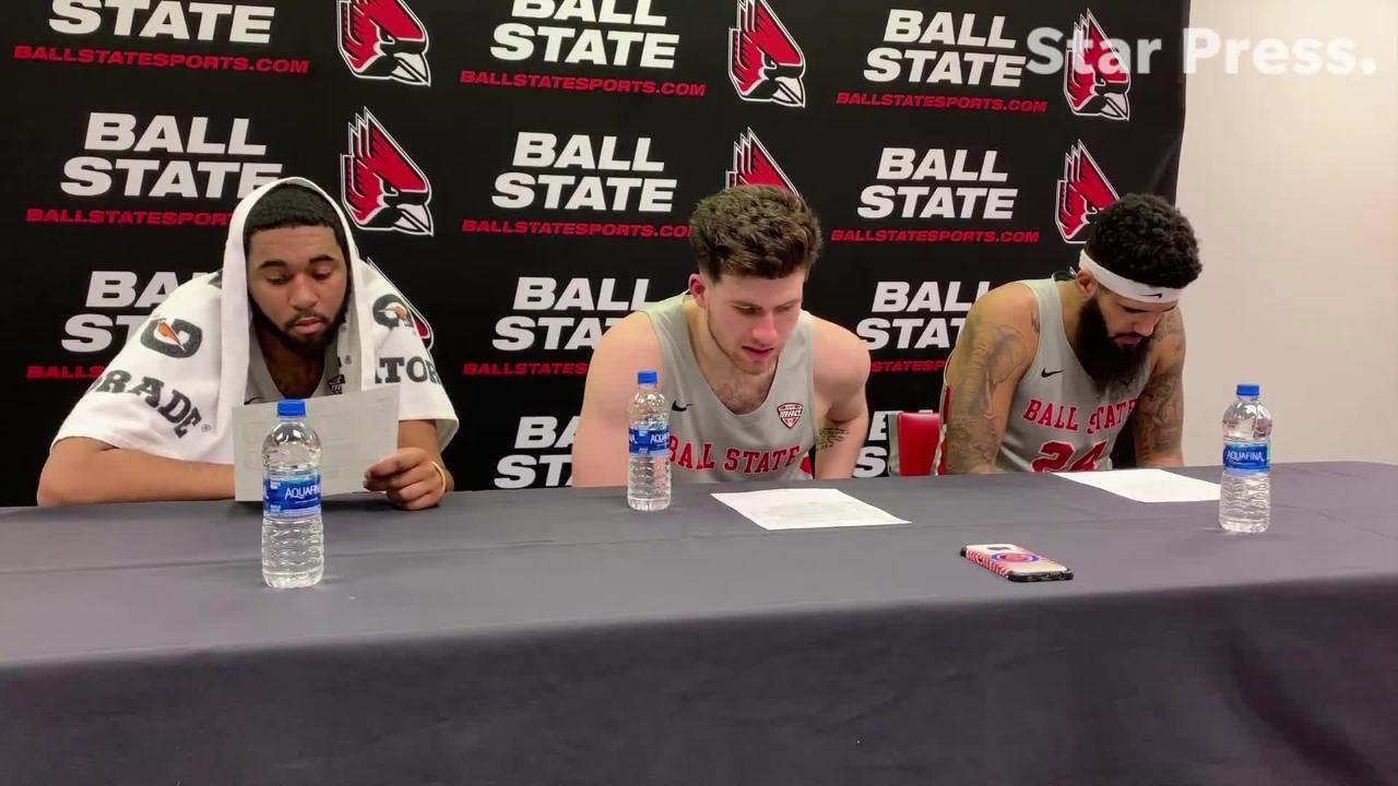 Trey Moses, Tayler Persons and Tahjai Teague on Ball State's win over Akron.