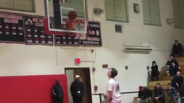 Ian Felix scores at third-quarter buzzer during Clifton's 58-41 win over Wayne Valley at the Passaic County boys basketball semifinals.
