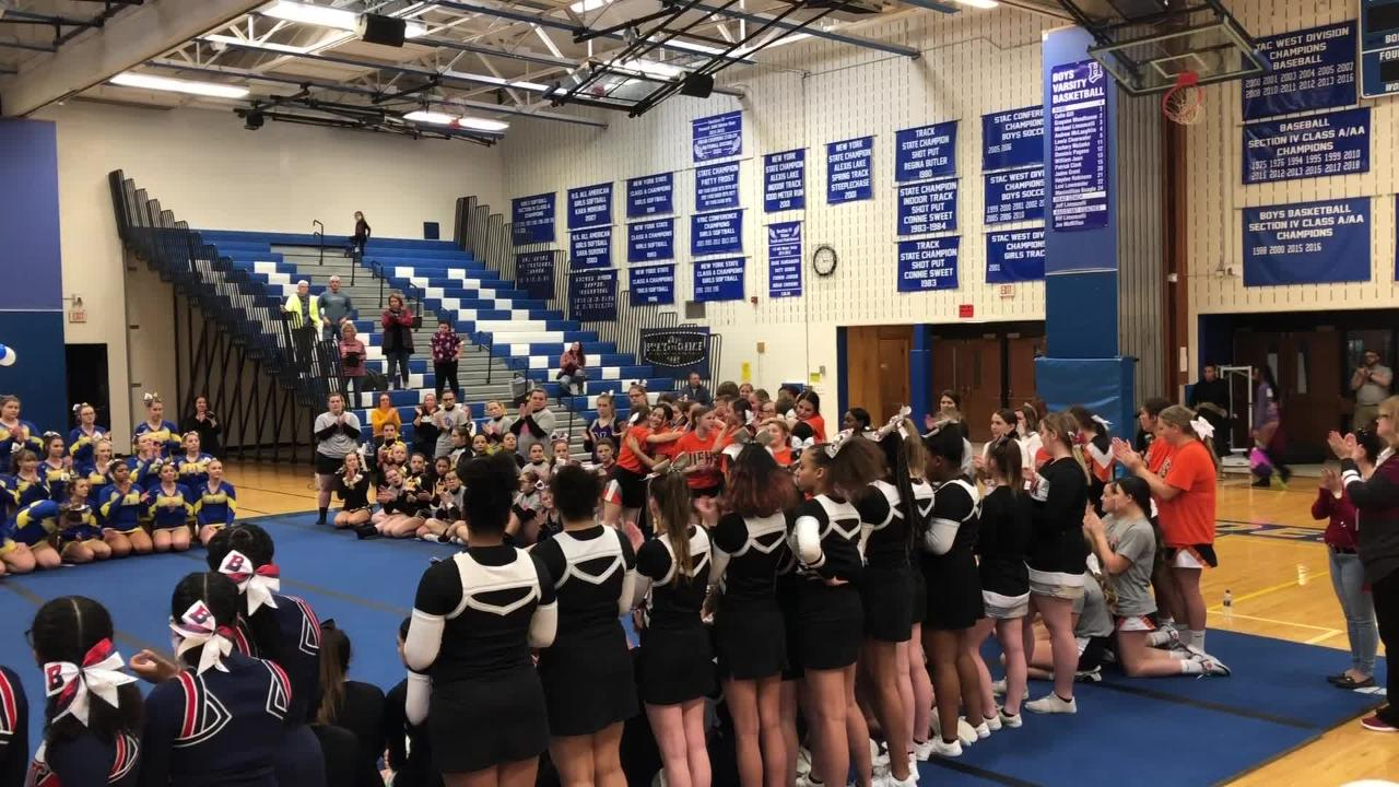 Video of competition, scenes and awards from the STAC Winter Cheerleading Championships on Feb. 16, 2019 at Horseheads Middle School.