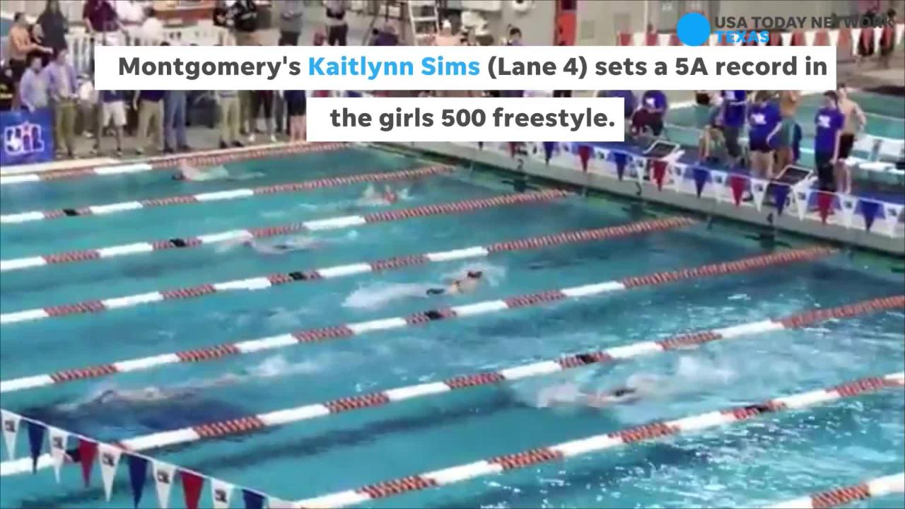 Highlights from the final day of the UIL State Swimming Meet in AUstin.