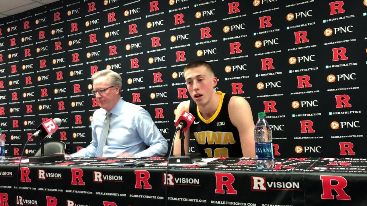 Iowa freshman Joe Wieskamp hit an amazing game-winning shot against Rutgers. You wouldn't be able to tell that by his postgame demeanor. Watch: