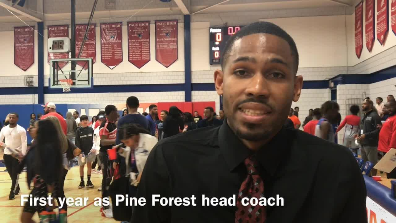 Pine Forest claimed its first district title since 2013 behind a total team defensive effort that limited top-seeded Milton all Saturday night.