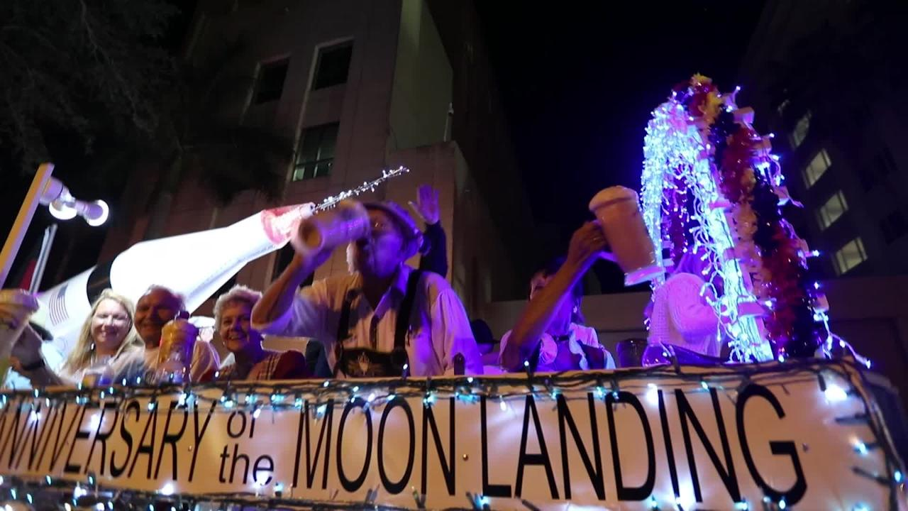 A quick look at the Grand Parade that wound through downtown Fort Myers that was part of the Edison Festival of Light celebration.