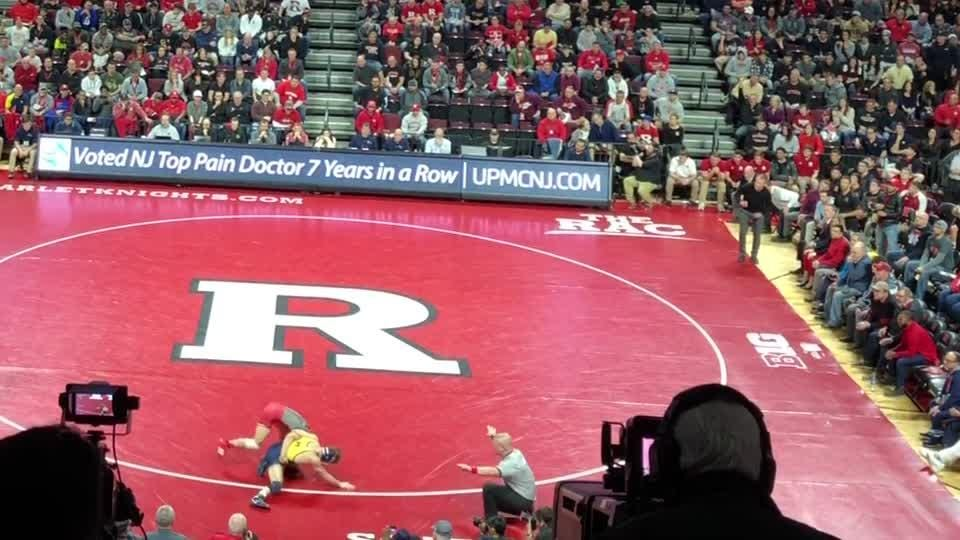 Rutgers wrestling: Stevan Micic of Michigan defeats Nick Suriano of Rutgers