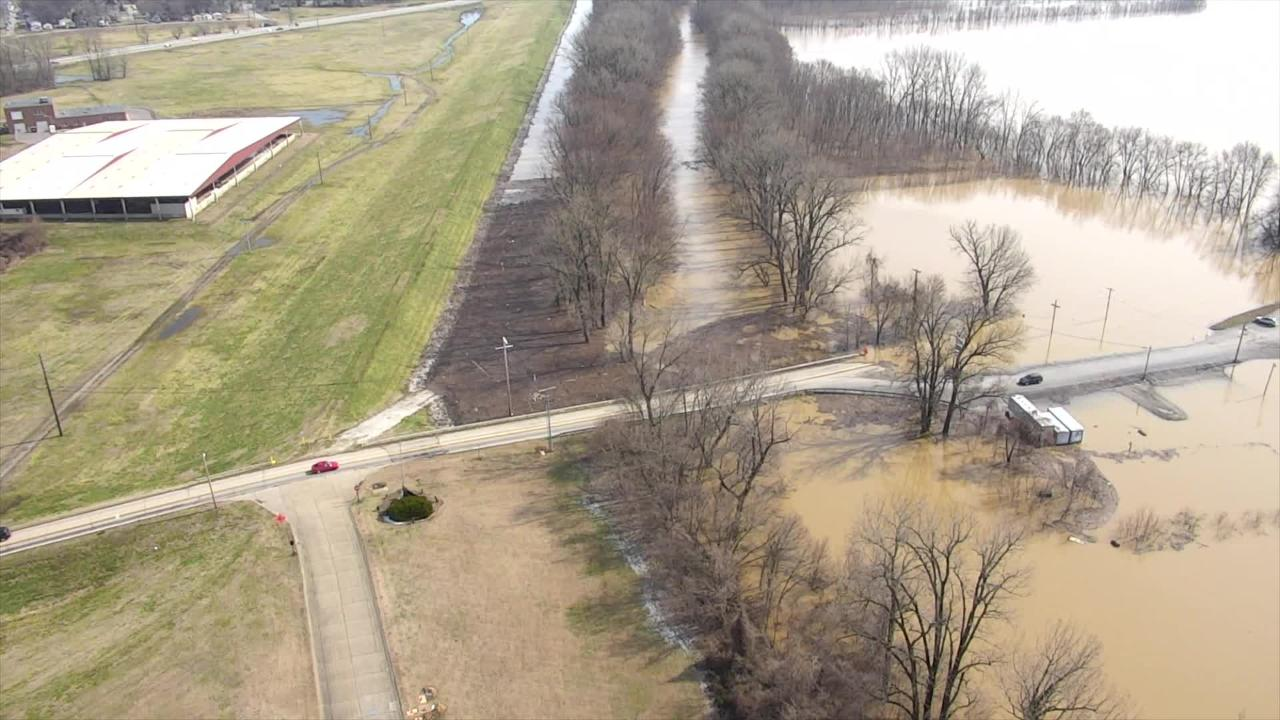 The Evansville / Vanderburgh County Emergency Management Agency released a video of extensive flooding.