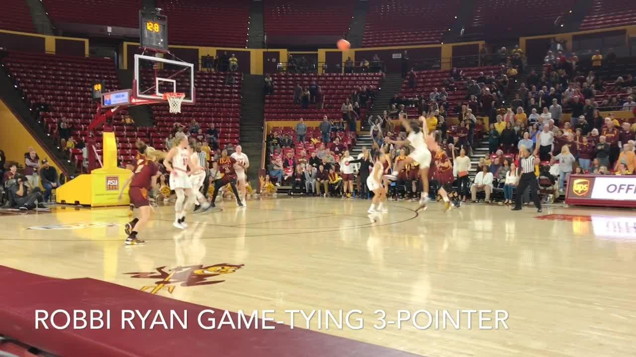 Robbi Ryan, Courtney Ekmark, Kianna Ibis on ASU women's basketball scoring the final 20 points to beat Utah on Sunday.