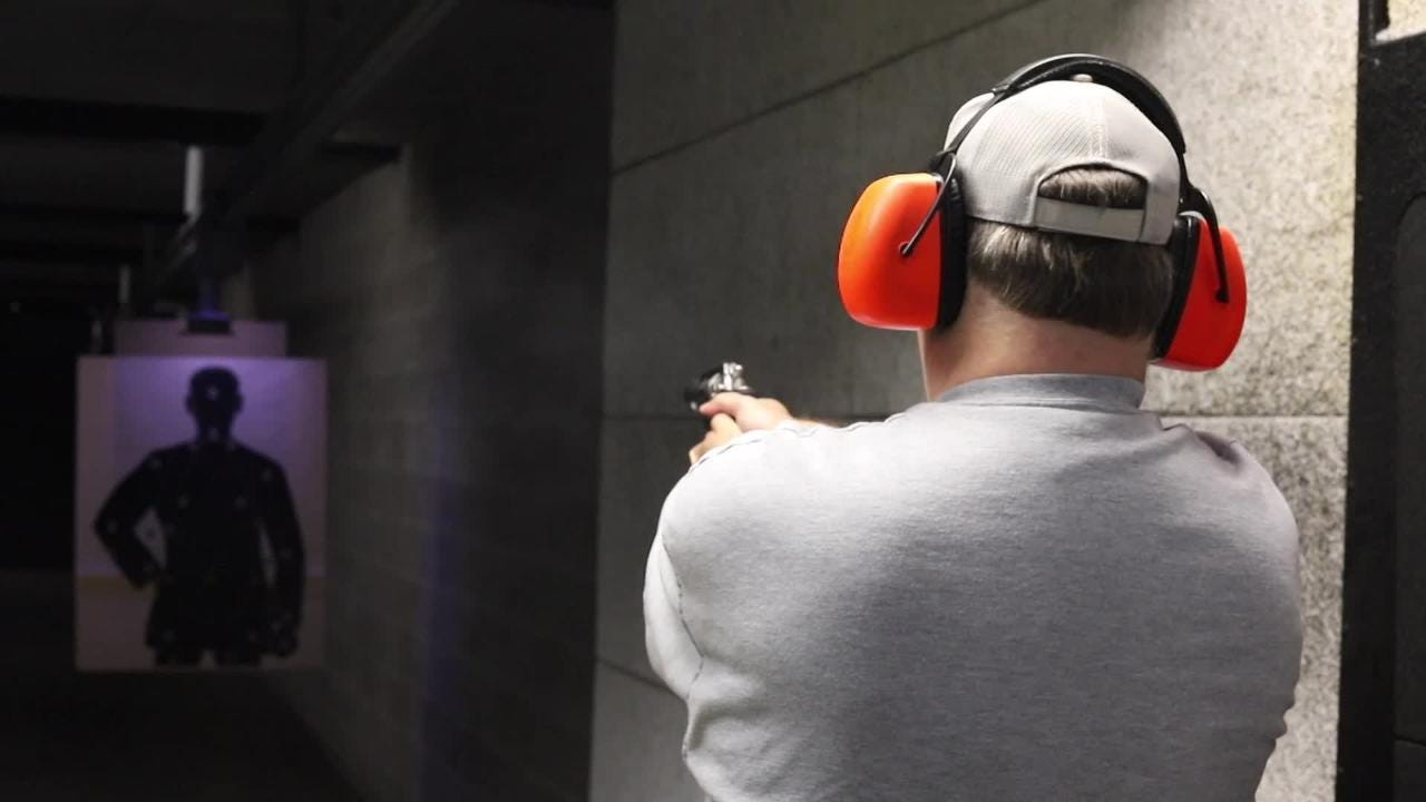 Joe Gerth takes an all day course to get his conceal carry permit at Openrange.