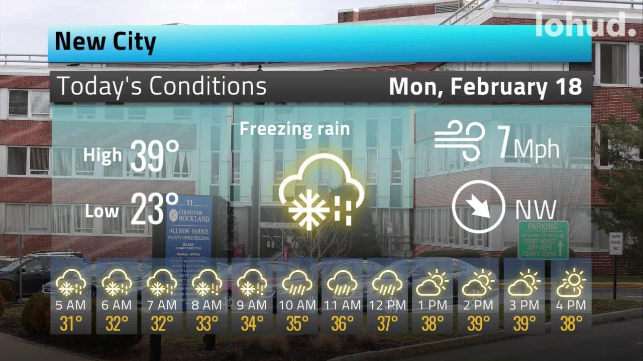 Snow and rain could create slippery driving conditions on Monday in the Lower Hudson Valley, where a winter storm could mess up commutes on Wednesday.