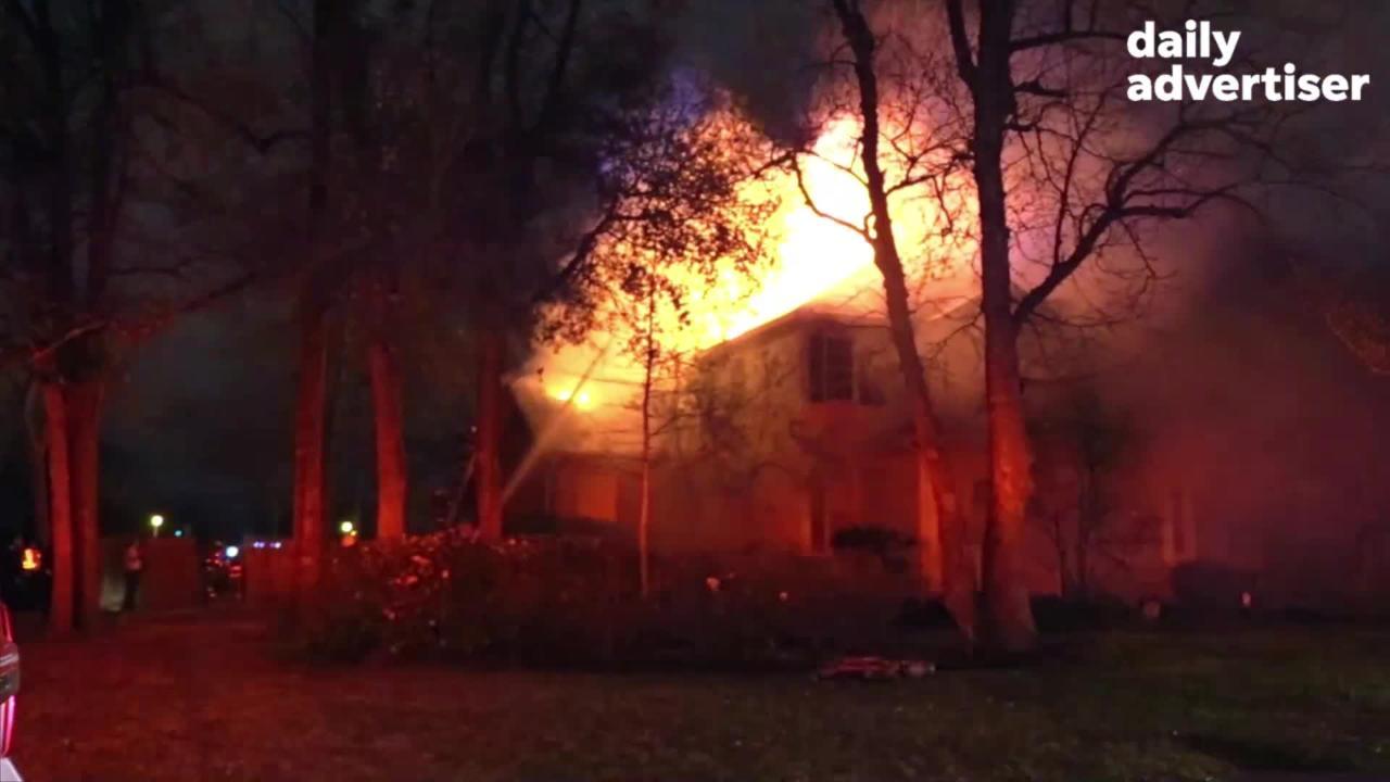 Exclusive Video of Firefighters Battling House Fire at 322 W. Farrel Rd, in Lafayette, LA