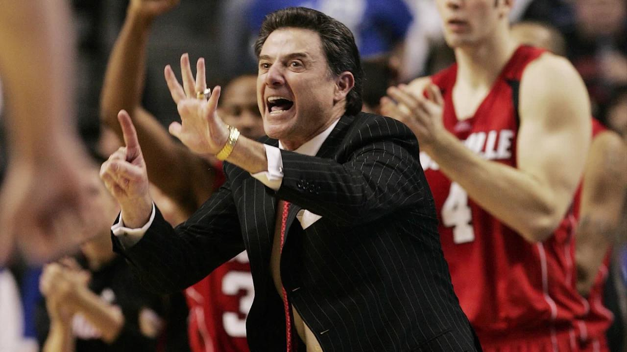 Rick Pitino is no longer the coach of Louisville basketball, but there's no reason to act like he didn't coach here.