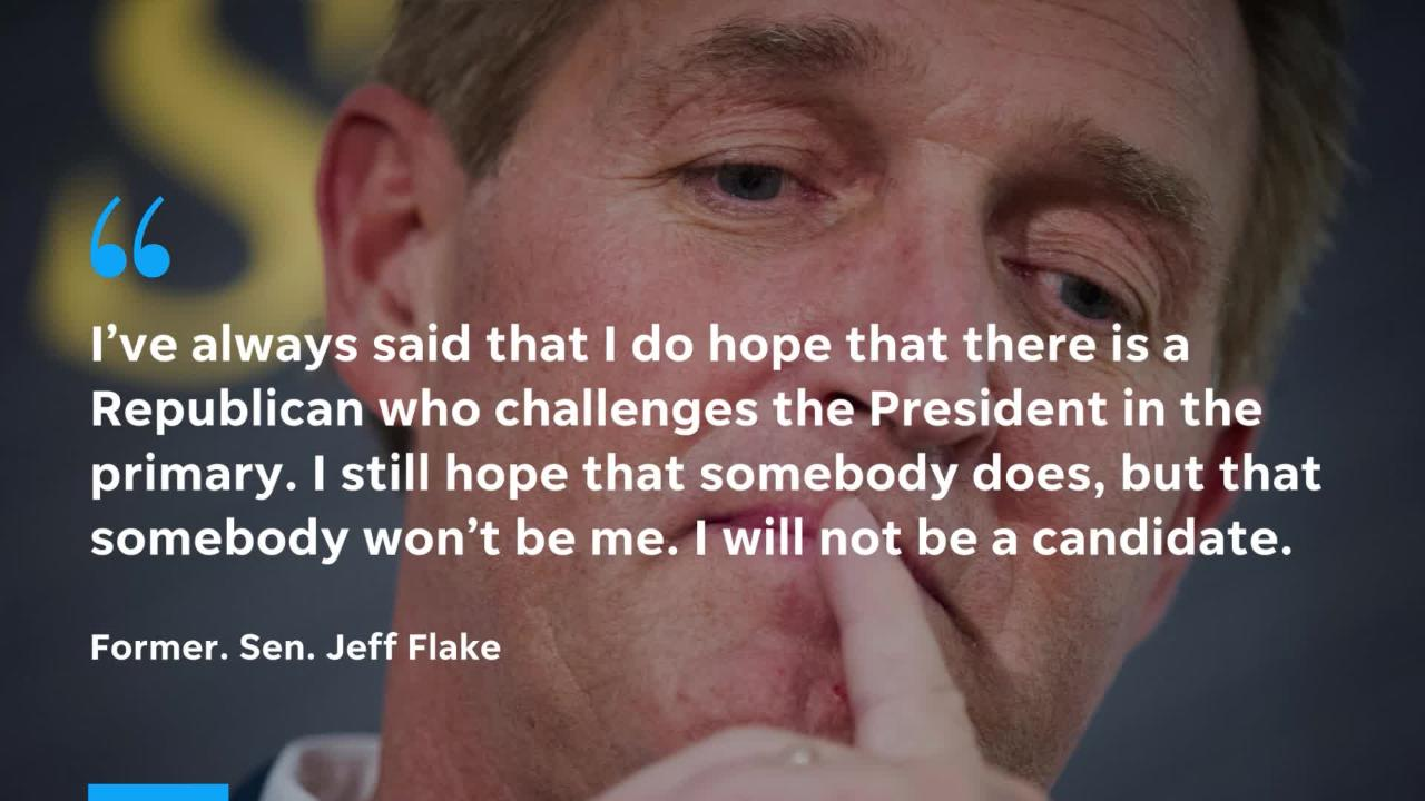 """Former Sen. Jeff Flake made the announcement on """"CBS This Morning."""""""