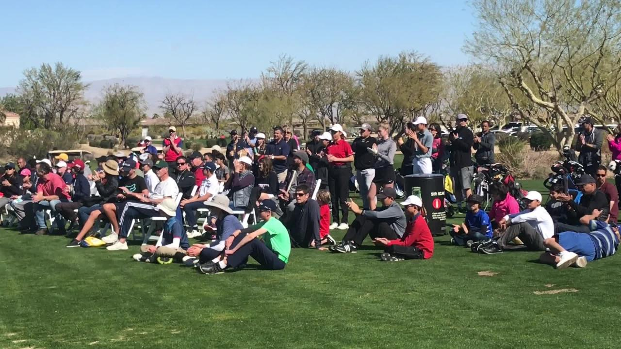 The Prestige presented by Charles Schwab hosted a junior golf clinic for Southern California juniors and featuring instruction from top college coaches.