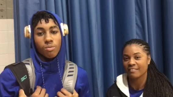 Mishawaka Marian guard Jaden Ivey and his mother, Notre Dame assistant Niele Ivey, discuss his strong junior season