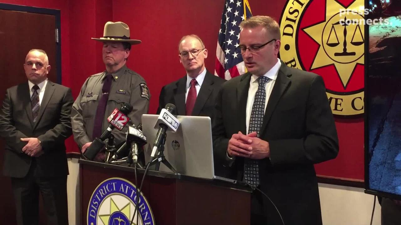 Broome County District Attorney Steve Cornwell details a Jan. 28 deadly shootout in Kirkwood.
