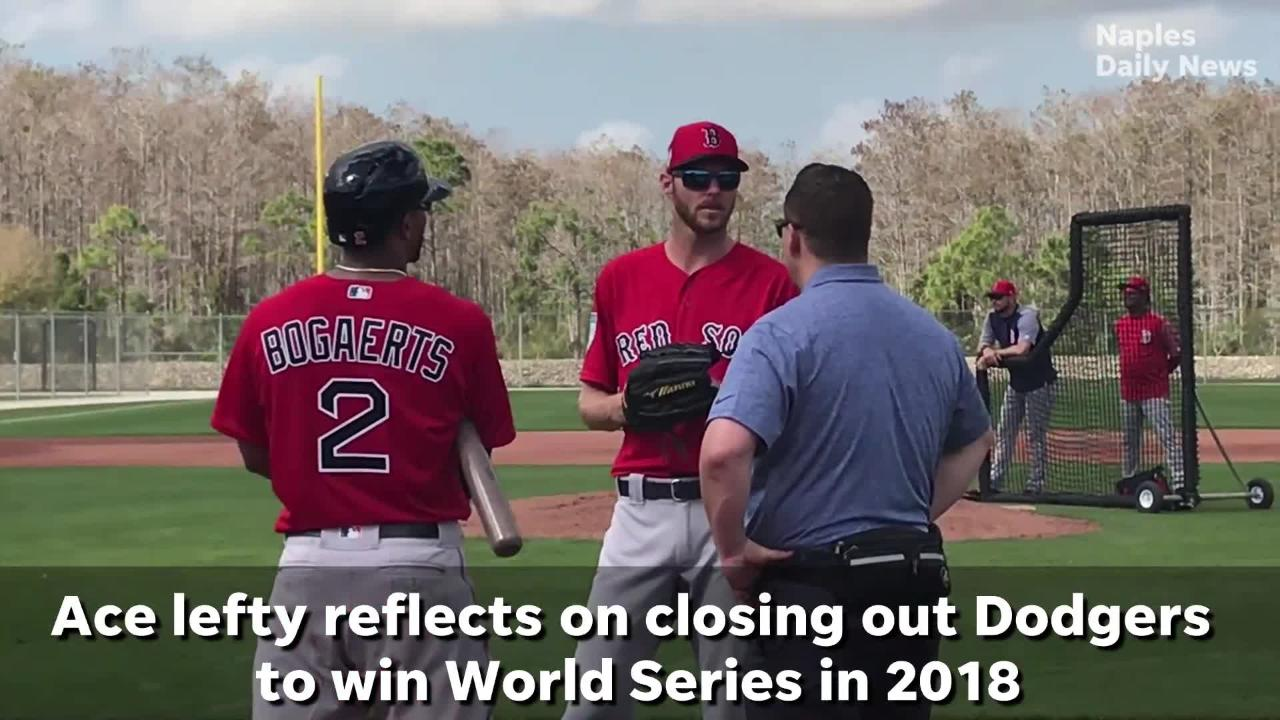 sale retailer f4ce2 01927 Watch: Former FGCU ace Chris Sale discusses thrill of closing out World  Series win