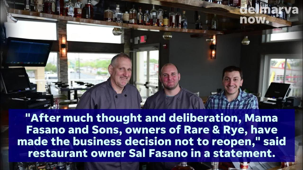 The Ocean City whiskey pub and wine bar Rare & Rye will soon be replaced by a new restaurant.