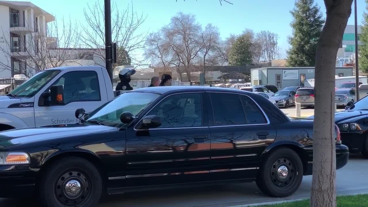 Police arrest suspect at Kaweah Delta Medical Center.