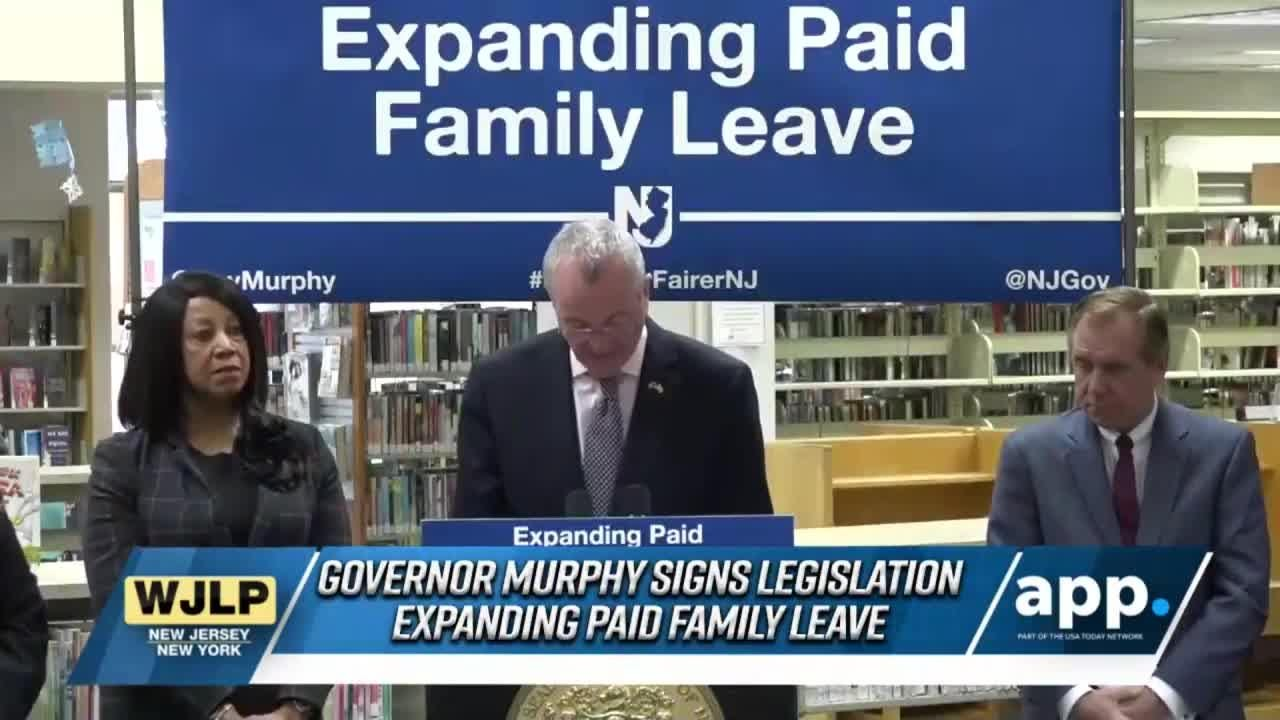 This edition of NewsBreak looks at  Gov. Phil Murphy expanding paid family leave and the state joining the  national emergency declaration fight.