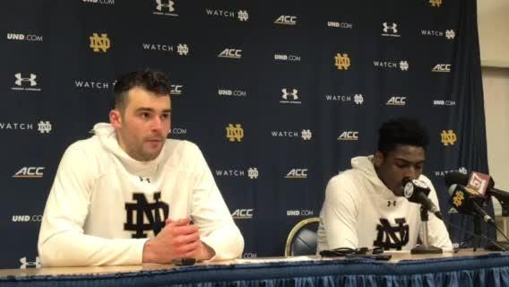Notre Dame's John Mooney, T.J. Gibbs reflect on 75-68 home loss to lowly Wake Forest