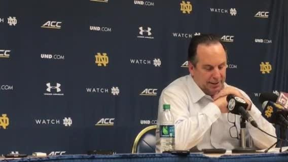 "Notre Dame coach Mike Brey says ""the reality is we are who we are right now"" after 75-68 loss to Wake Forest"