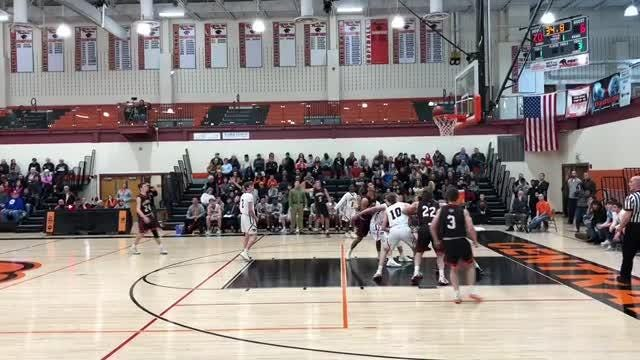Central York senior Alex Salter hit two first-half buzzer-beaters as the Panthers blew out Warwick, 82-51, in the District 3 Class 6A playoffs.