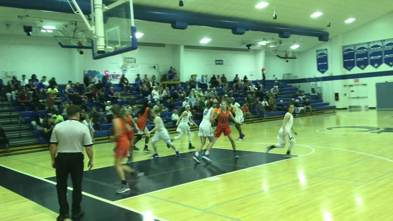 Katie Ambrose's jumper with 8.2 seconds remaining brought Canterbury all the way back from an 11-point 4th-quarter deficit to spur them to a 49-47 win over Bradenton Christian.
