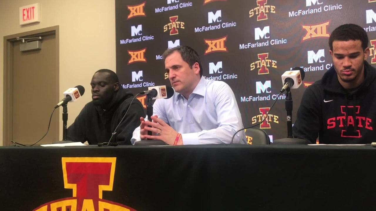 Iowa State coach Steve Prohm says his team's toughness needs to improve.