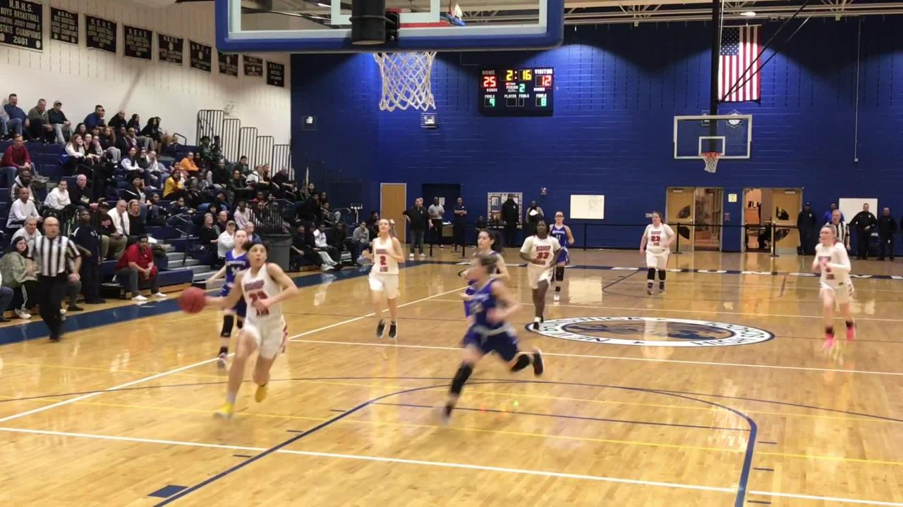 The top-seeded Bishop Ahr girls basketball team defeated No. 4 Middlesex 67-44 in the GMC Tournament semifinals on Tuesday