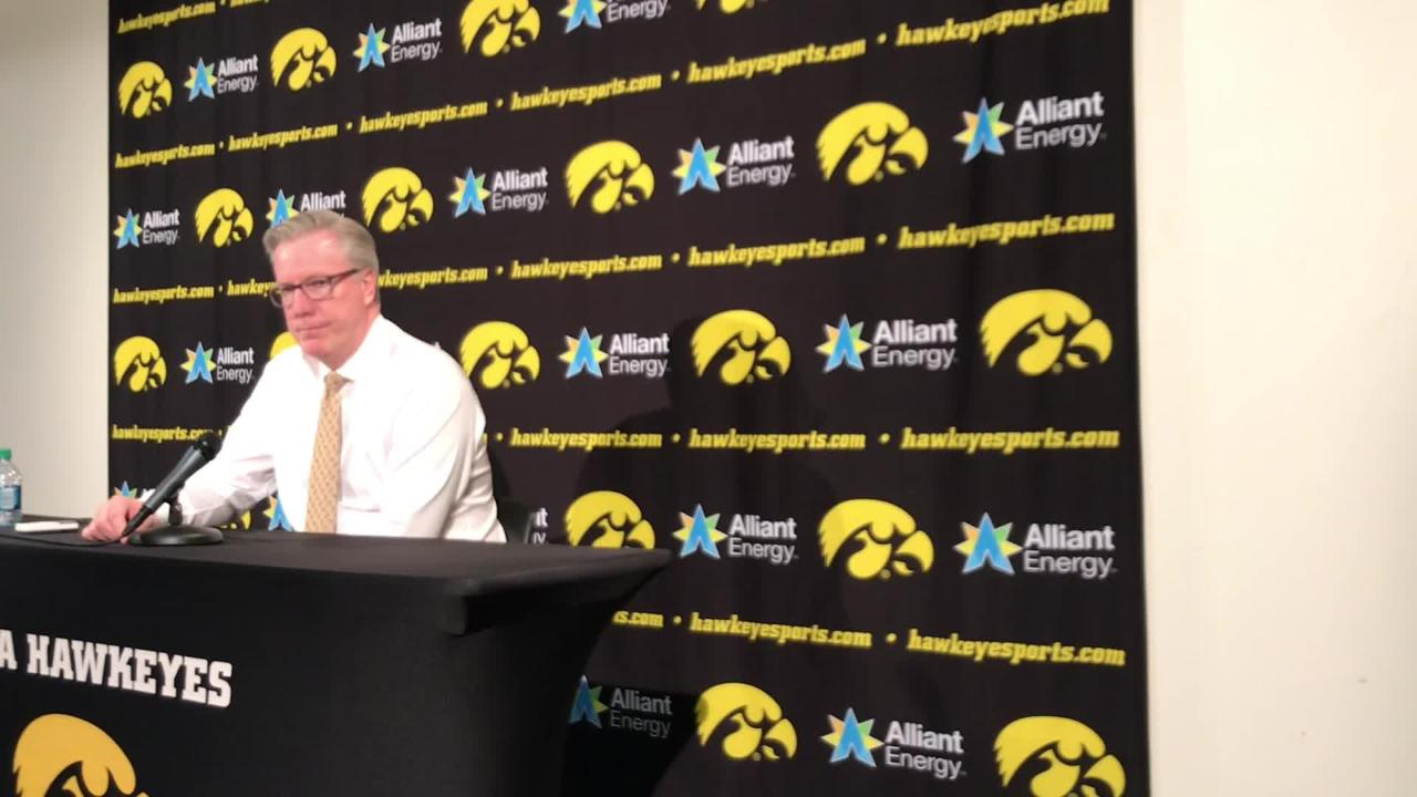 Iowa coach Fran McCaffery discusses Jordan Bohannon's final shot attempt and an overall tough offensive performance vs. Maryland.