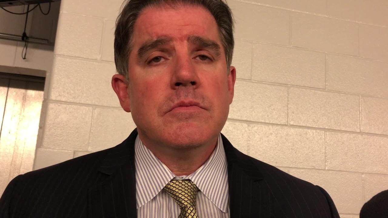 Predators coach Peter Laviolette praises Brian Boyle, who scored his second goal since joining the team