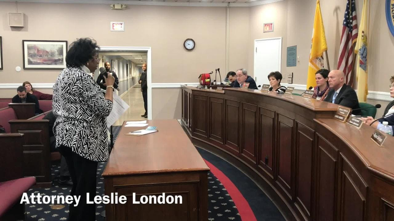 A model, and a discussion, about a new residential-retail complex proposed in Parsippany during a council meeting on Feb. 20, 2019.
