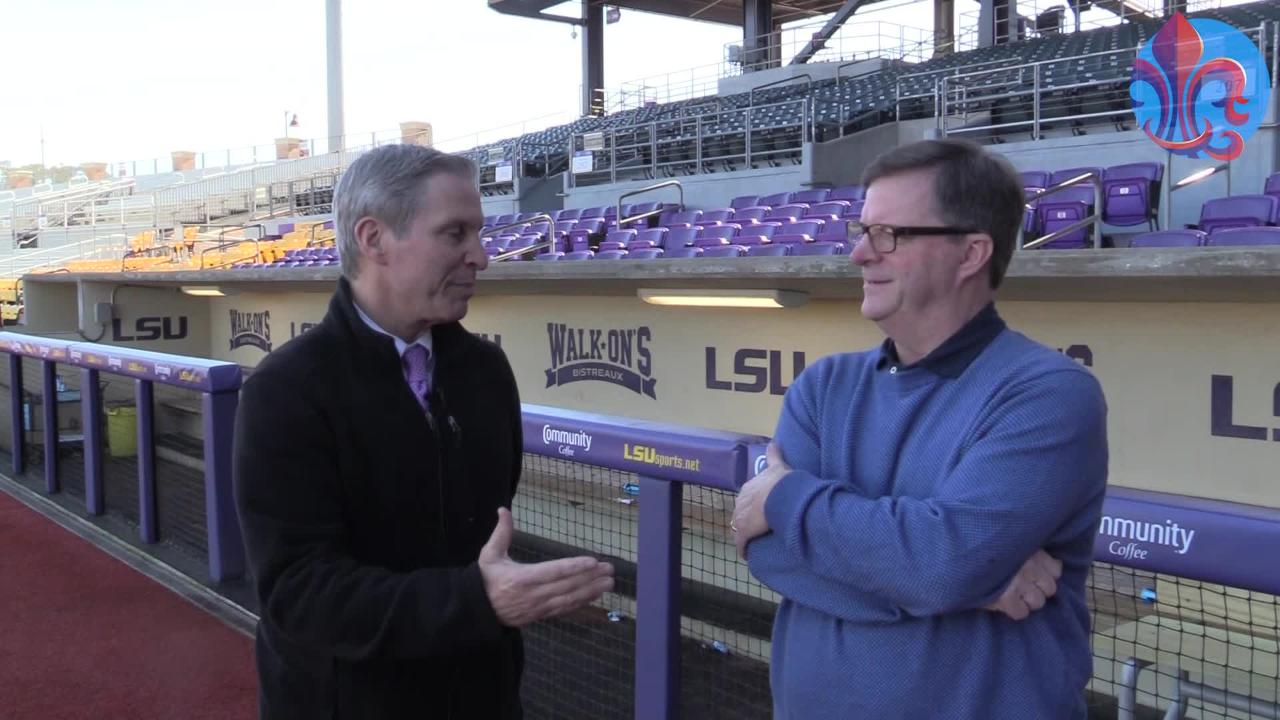 Glenn Guilbeau was able to catch up with LSU baseball sports information director Bill Franques with just a few days to go before the Tigers kicked off their 2019 season.